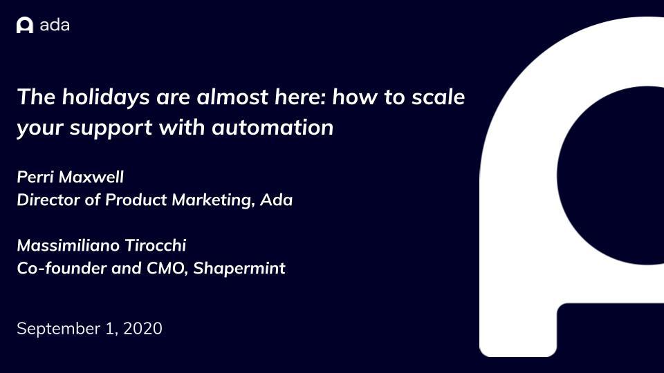 Ada + Shapermint- eTail September presentation